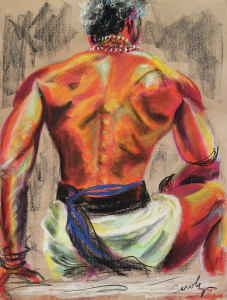 'Powerful Back of a Unique Man by Asha Carolyn Young.