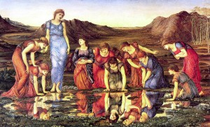 Art: 'The Mirror of Venus' by  Edward Burne-Jones