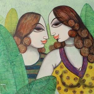 Painting by artist Varsha Kharatamal